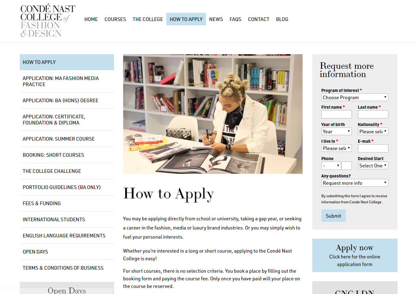 Conde Nast College Admissions Software Heiapply